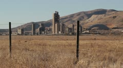 Cement Plant in the Desert Stock Footage