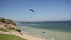 Paragliding in Kiel / Germany Stock Footage