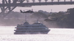 Stock Video Footage of Blackhawk Helicopter & Counter Terrorism Operation in Sydney Australia PT3