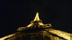 Tour Eiffel by Night Stock Footage