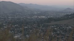 Sunset Timelapse of Little town San Luis Obispo Stock Footage