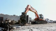 Stock Video Footage of Large Scrap Metal Recycling Center Scrap Metal Recycling Yard