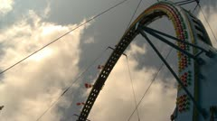 midway ride at fairgrounds - Turbo Loop - stock footage