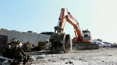 Large Scrap Metal Recycling Center Scrap Metal Recycling Yard - stock footage
