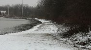 Snowy Path Stock Footage