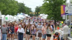Arts & Crafts Festival Stock Footage