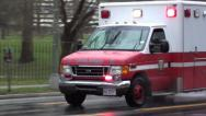 Stock Video Footage of EMS unit responding; Fire & EMS