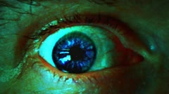 Stock Video Footage of Bizarre Eyeball Close Up