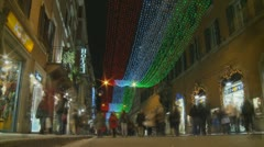 Timelapse Christmas shopping (4) Stock Footage