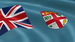 Fijian flag in the wind Stock Footage