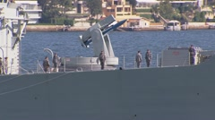 Australian Navy Welcomed Back To Sydney, Australia PT1 Stock Footage
