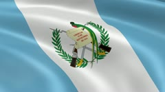 Guatemalan flag in the wind Stock Footage
