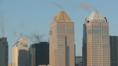 Calgary skyline featuring Bankers hall, winter Stock Footage