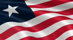 Liberian flag in the wind Stock Footage