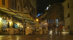 Timelapse outside cafe in Rome Stock Footage