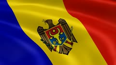 Moldovan flag in the wind Stock Footage