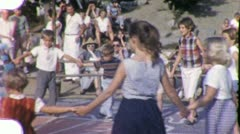 Children Dance with American Indian Pow Wow 1960s Vintage Film Home Movie 2024 Stock Footage