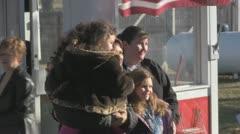 Stock Footage - Michele Bachmann posing for photos on Iowa tour Stock Footage