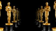 Stock Video Footage of Row of statues Oscar