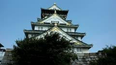 Japan, Osaka, Osaka Castle Stock Footage