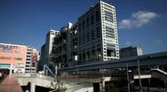 Japan, Tokyo, Odaiba, Fuji Television Building Stock Footage
