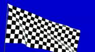Stock Video Footage of close up checkered flag