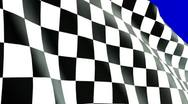 Stock Video Footage of extreme close up checkered flag