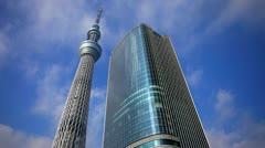 Japan, Tokyo, Tokyo Sky Tree. The tallest structure in Japan. - stock footage