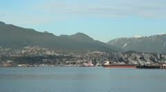 Vancouver harbour. Timelapse. Stock Footage