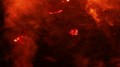 Lava on Volcan Stock Footage