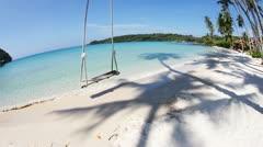 Tropical beach & clear sea Stock Footage