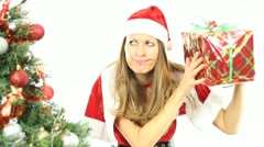 Red Christmas Present Stock Footage
