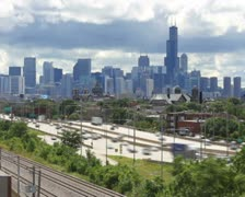 Chicago Skyline Time Lapse Stock Footage