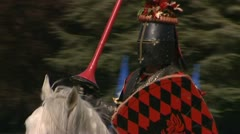 Medieval jousting tournament. Stock Footage