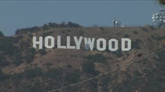 Close up of Hollywood Sign - stock footage