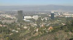 San Fernando Valley – Burbank, CA - stock footage