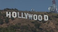 Stock Video Footage of Hollywood sign, extremely close, Los Angeles