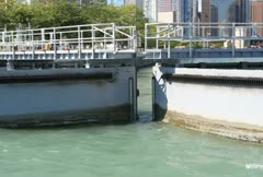 Chicago Harbor Lock (Two Shots) Stock Footage