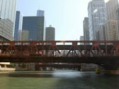 Floating Down Chicago River Time Lapse Stock Footage