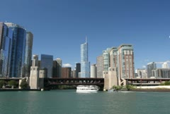 River Tour of Chicago - stock footage