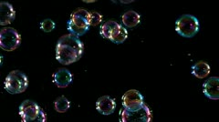 Soap Bubbles Slowed Extreme - stock footage