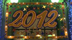 Luminous number of 2012 Stock Footage