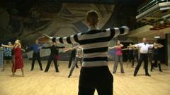 Teacher of the ballroom dance, rehearsal. Stock Footage