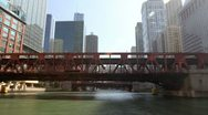 Stock Video Footage of Floating Down Chicago River Time Lapse