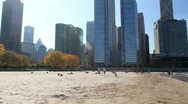 Pan of Chicago Beach 2 Stock Footage