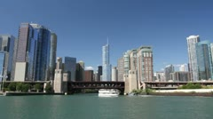 River Tour of Chicago Stock Footage