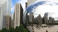 Chicago Reflection in The Bean Stock Footage