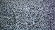 Close up of static on TV screen Stock Footage