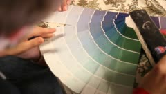 Color wheel selector picking color Stock Footage