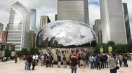 Stock Video Footage of Cloud Gate Time Lapse
